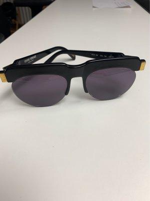 Versace Gafas de sol cuadradas negro