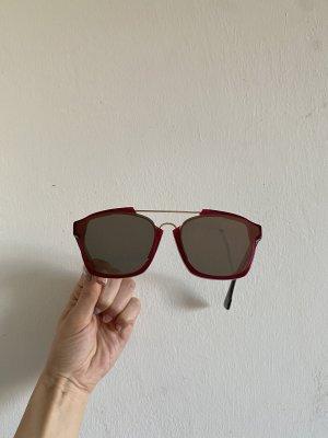 Christian Dior Hoekige zonnebril veelkleurig Acetaat