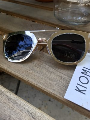 Kiomi Retro Glasses anthracite-gold-colored