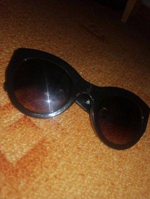 H&M Owalne okulary przeciwsłoneczne czarny