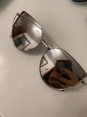 Occhiale squadrato argento