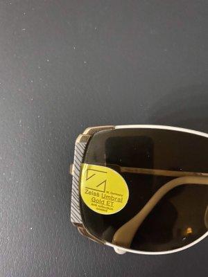 Lunettes doré-crème métal