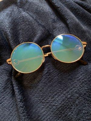 Okrągłe okulary przeciwsłoneczne piaskowy brąz