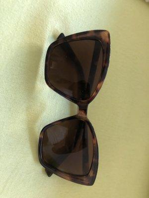 Kwadratowe okulary przeciwsłoneczne brązowy-czarny