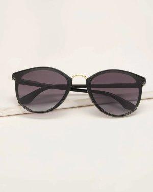 SheIn Owalne okulary przeciwsłoneczne czarny