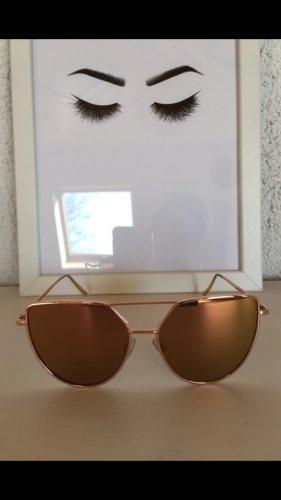 H&M Gafas Retro color rosa dorado-rosa