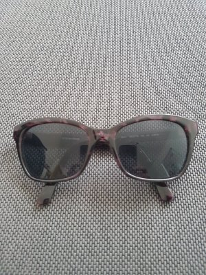 no name Oval Sunglasses black-raspberry-red