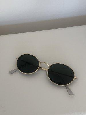 Okulary retro złoto-czarno-brązowy