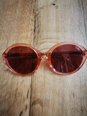 Quay Okrągłe okulary przeciwsłoneczne w kolorze różowego złota