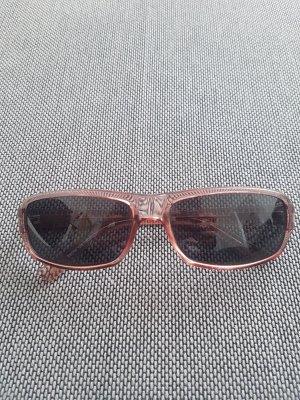 no name Occhiale da sole spigoloso color oro rosa-marrone chiaro