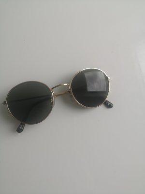 H&M Round Sunglasses gold-colored