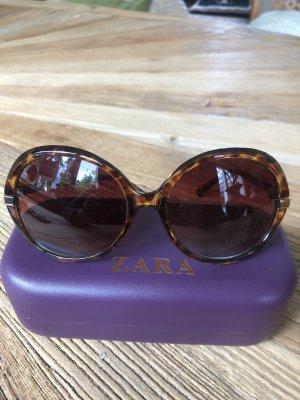 Zara Round Sunglasses dark brown-brown