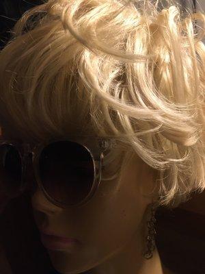 Ronde zonnebril wit-lichtbruin