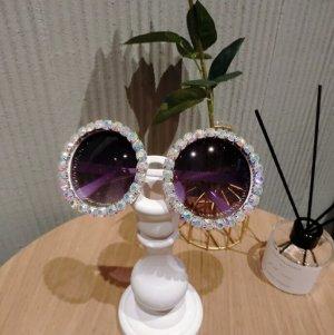 Amazon fashion Occhiale da sole rotondo bianco-nero