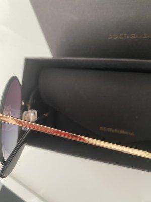 Dolce & Gabbana Ronde zonnebril zwart-goud