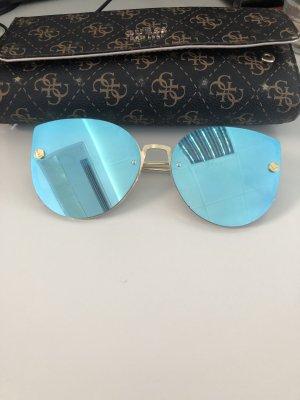 Zara Gafas mariposa azul claro-color oro