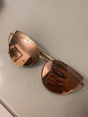 Occhiale squadrato color oro rosa