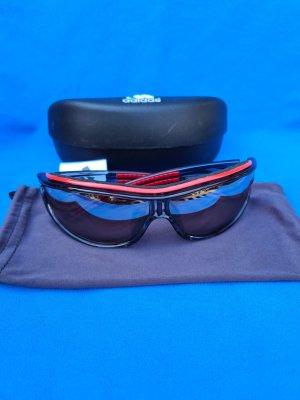 Adidas Lunettes de soleil ovales noir-rouge