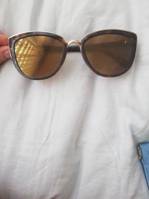 Gina Tricot Occhiale da sole spigoloso marrone-nero