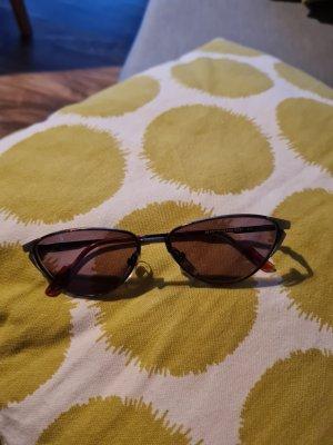 Kwadratowe okulary przeciwsłoneczne brązowy