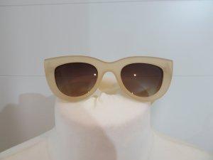 Zara Gafas de sol cuadradas crema