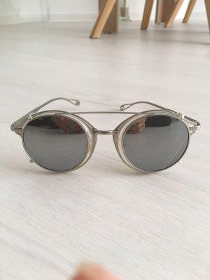 Okrągłe okulary przeciwsłoneczne srebrny