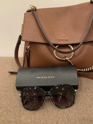 Burberry Occhiale da sole ovale nero-argento