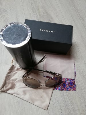 Bvlgari Angular Shaped Sunglasses light brown
