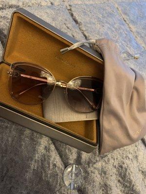 Bvlgari Ovale zonnebril stoffig roze-goud