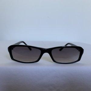 Occhiale da sole spigoloso nero Acrilico