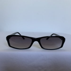 Hoekige zonnebril zwart Acryl