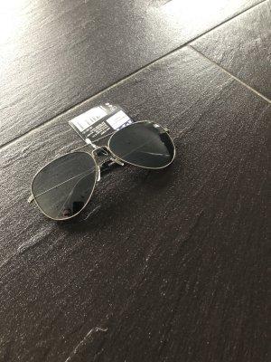 Okulary pilotki srebrny