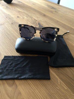 CK Collection Gafas de sol cuadradas marrón oscuro-crema