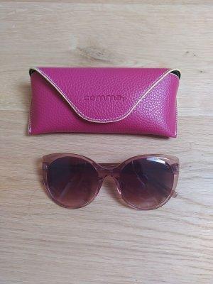Comma Owalne okulary przeciwsłoneczne stary róż-złoto