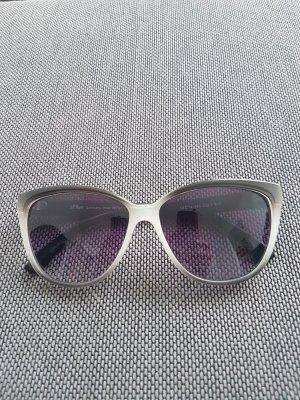 no name Angular Shaped Sunglasses white-black