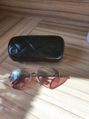 Chanel Okulary pilotki w kolorze różowego złota