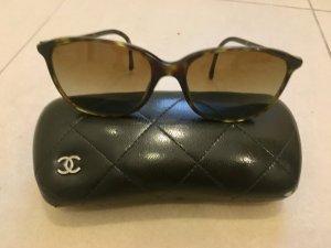 Chanel Gafas mariposa marrón claro tejido mezclado