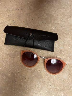 Comma Gafas de sol redondas color oro-albaricoque
