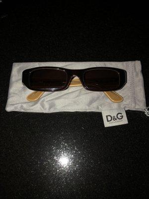 D&G Gafas de sol cuadradas marrón-negro vidrio