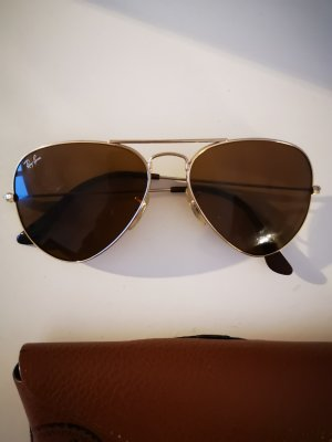 Ray Ban Oval Sunglasses gold-colored-brown