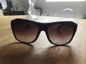Jil Sander Hoekige zonnebril bordeaux-roodbruin