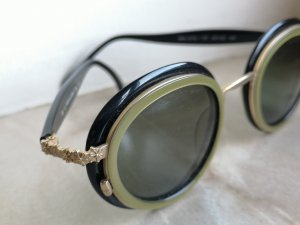 Christian Lacroix Oval Sunglasses black-gold-colored