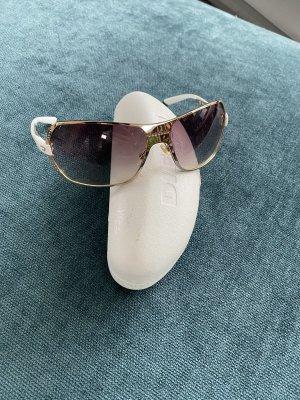 Diesel Gafas de piloto blanco-color oro