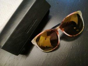 Diesel Hoekige zonnebril grijs-bruin