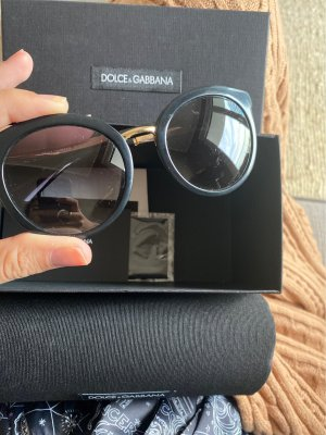 Dolce & Gabbana Butterfly Glasses black-gold-colored