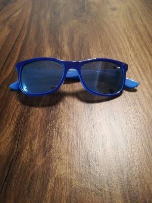 Sonnenbrille dunkelblau mit verspiegelten Gläsern