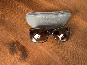 Emporio Armani Ronde zonnebril zwart-bruin kunststof