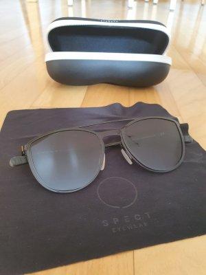 SPECT eyewear Owalne okulary przeciwsłoneczne czarny