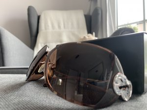 Escada Gafas marrón-negro-marrón oscuro