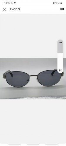 Eschenbach Oval Sunglasses black-dark blue